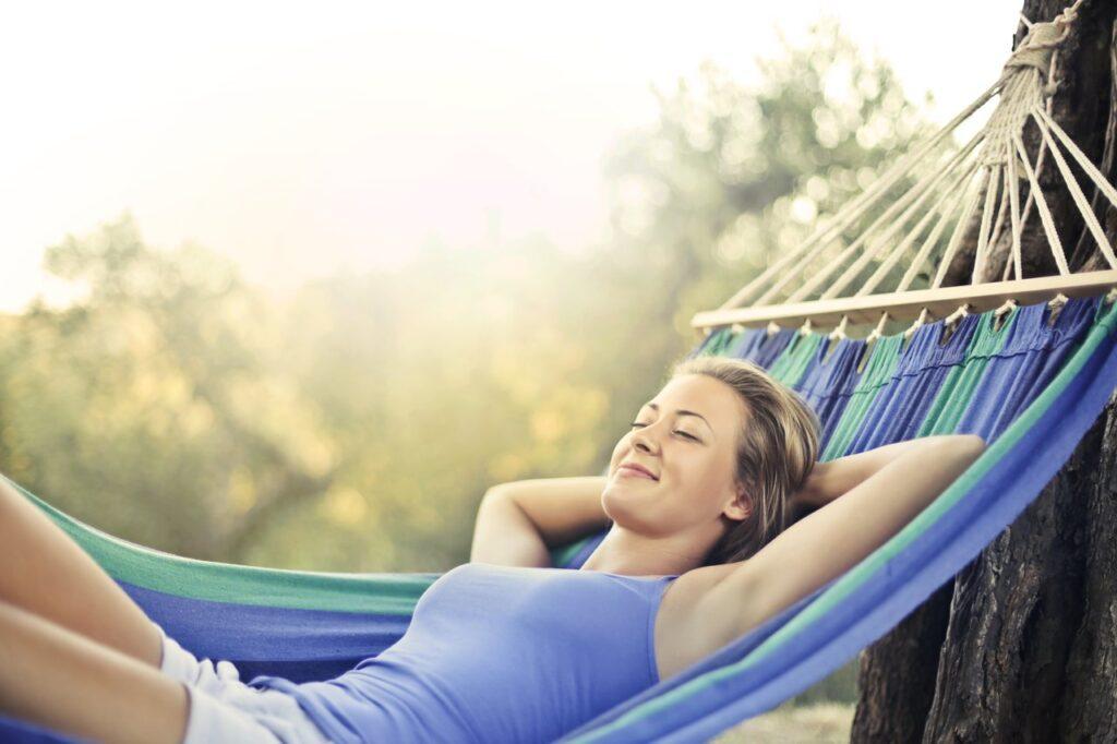 Entspannt Sonne tanken