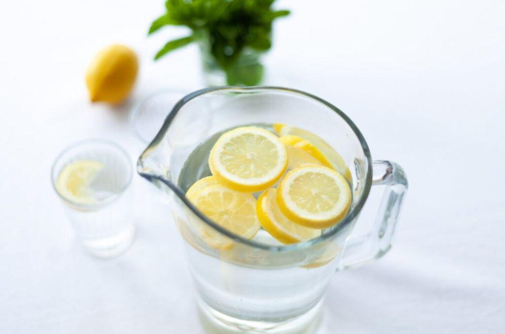 Wasser mit Zitronenscheiben